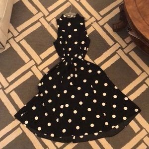 Ralph Lauren long polka dot dress